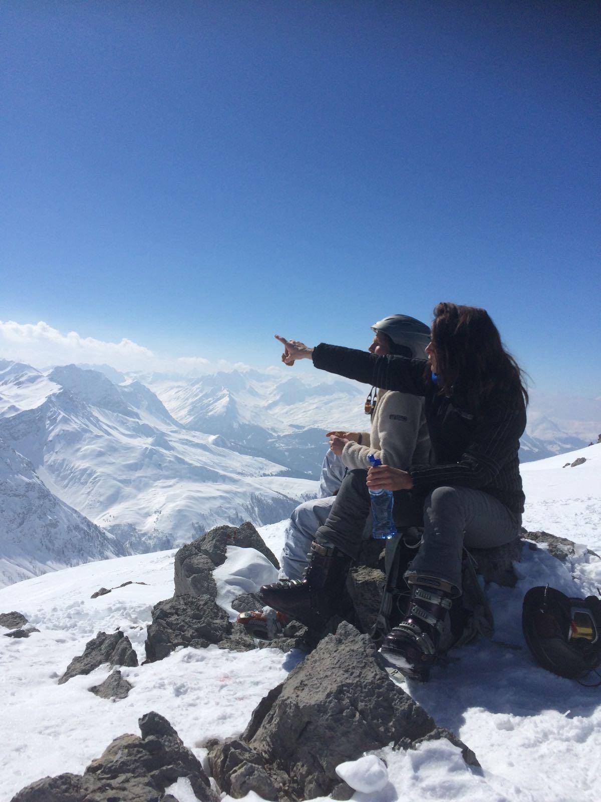 sylvie banning bergen sneeuw op reis
